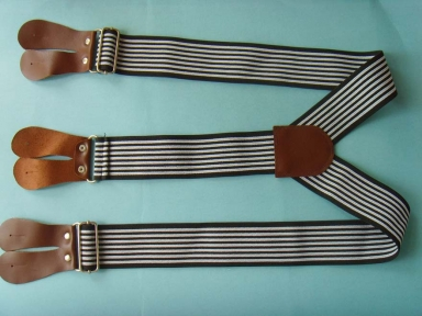 Y shape leather suspenders