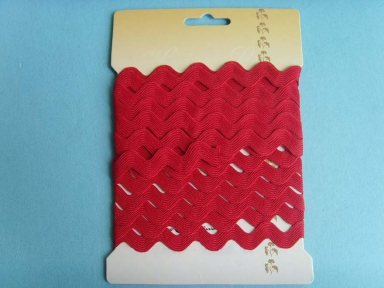 red polyester ricrac ribbon