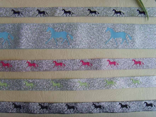 metallic silver damask horse ribbons