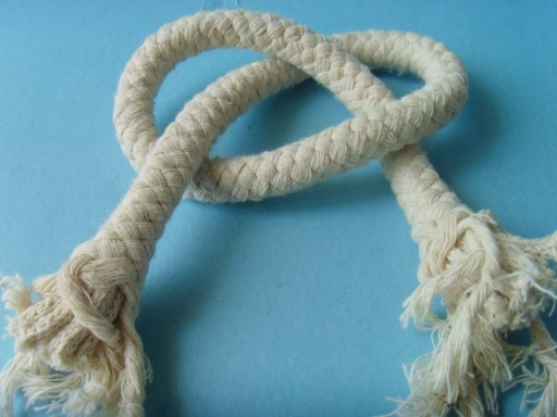 natural white cotton braided rope