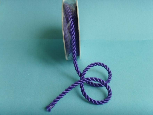 Purple glossy polyester curtain ropes