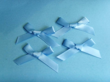 blue polyester satin ribbon bows