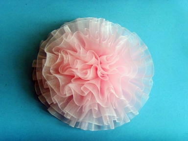 big size pink organza ribbon bows