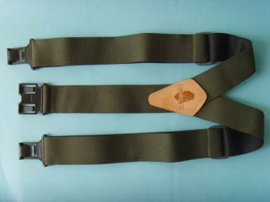 Solid colour suspenders for men