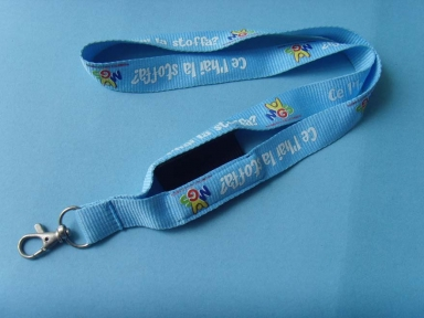 Logo Customize Polyester Mobile Lanyards