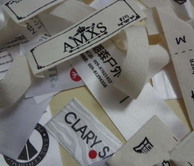 custom printing satin and cotton labels for clothing