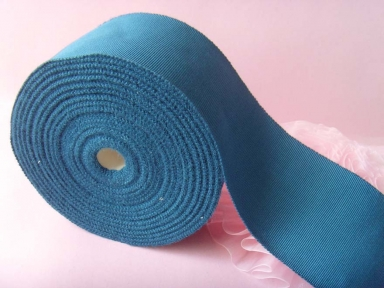 polyester blue petersham ribbon in 50mm