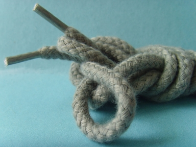 gray color waxed round cotton shoelaces